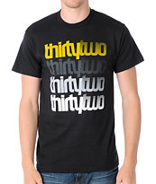 Thirtytwo Stacker Black & Gold Tee Shirt