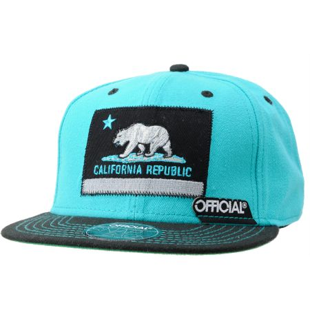 Official Cali Teal & Black Snapback Hat