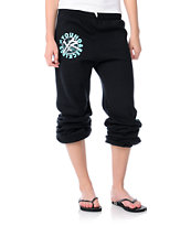 Young & Reckless Stay Reckless Girls Black & Turquoise Sweatpants