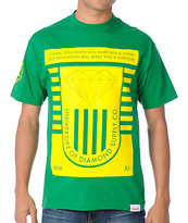 Diamond Supply University Kelly Green Tee Shirt