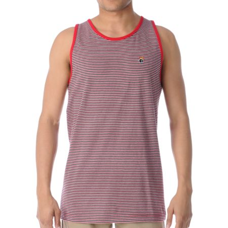 The Hundreds Chickasaw Red, White & Black Tank Top