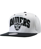 NFL Mitchell And Ness Oakland Raiders White Snapback Hat