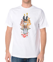 Skate Mental Keg Stand P White Tee Shirt