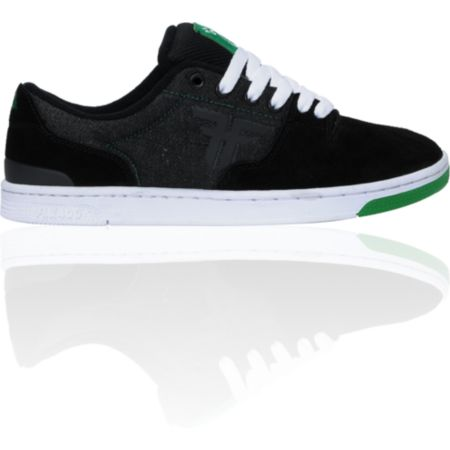 Fallen x LRG Seventy Six Black Suede & Denim Skate Shoes