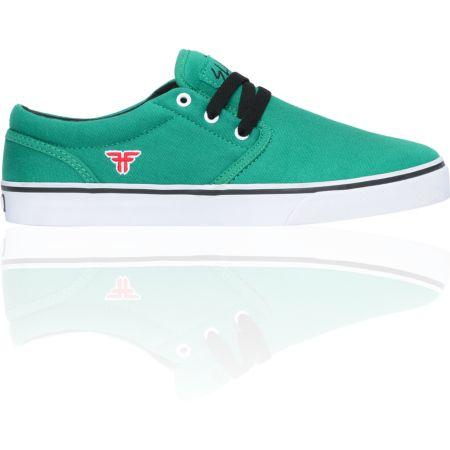 Fallen The Easy Green & Red Skate Shoe