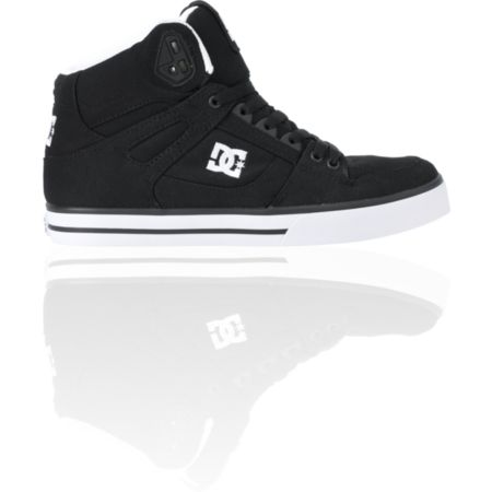 DC Spartan Hi TX Black Canvas Skate Shoe