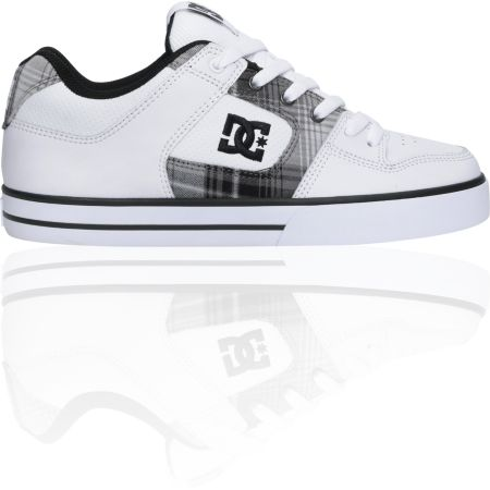 DC Pure XE White & Black Skate Shoe