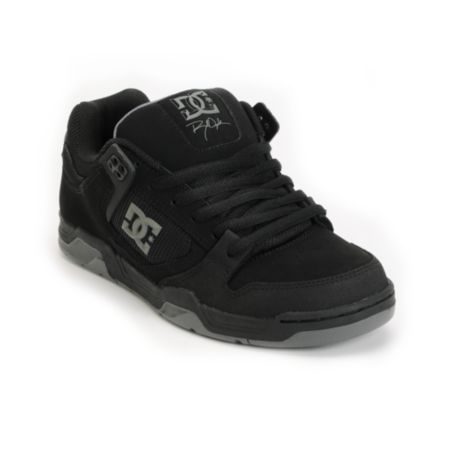 DC Flawless Dyrdek Black, Battleship & Black Skate Shoes