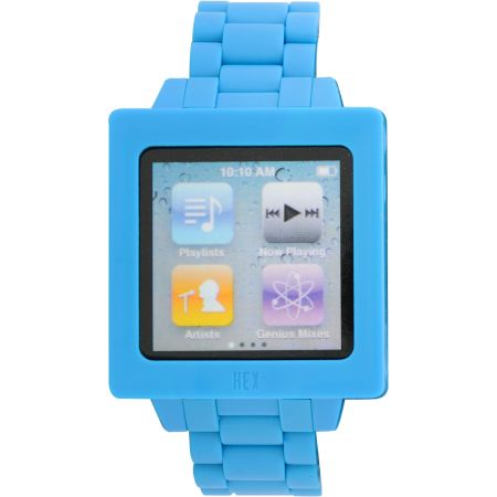 Hex Icon iPod Nano Blue Watch Band