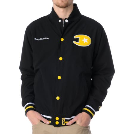 DGK Ghetto Champs Black & Yellow Varsity Jacket