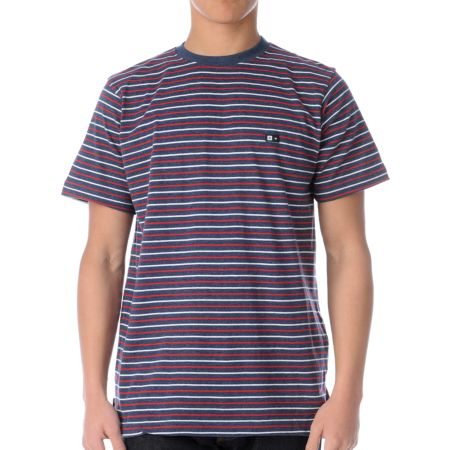 Fourstar Rijo Blue Striped Knit Tee Shirt