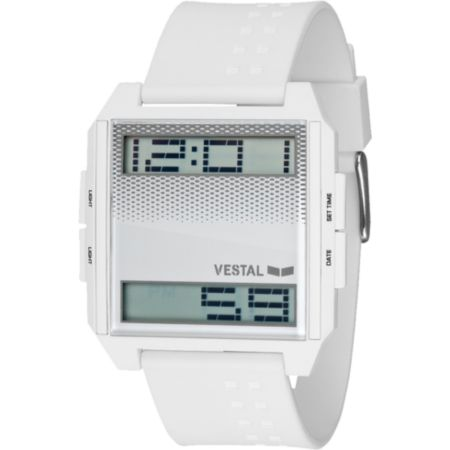 Vestal Digichord White Guys Digital Watch