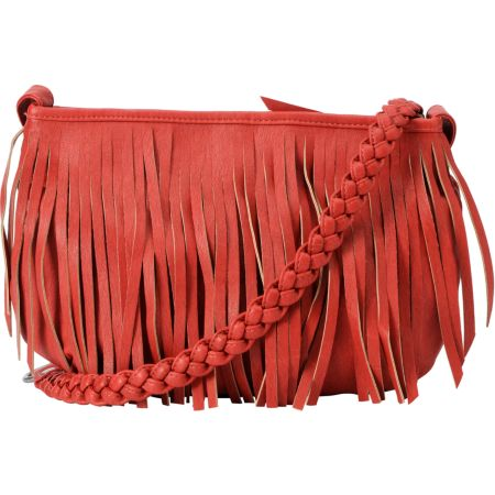 Vans Fringed Up Red Cross-Body Purse