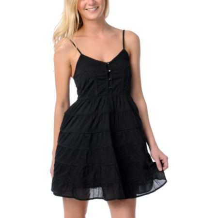Billabong Serenity Black Woven Dress