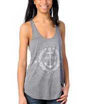 Obey Girls Cruise Liner Navy Mock Twist Tank Top