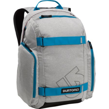 Burton Metalhead Grey & Aqua Skate Backpack