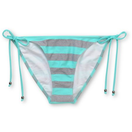 Empyre Girls Henne Turquoise Striped Tieside Bikini Bottom