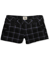 Empyre Girls Arcadia 2.5 Purple & Black Plaid Shorts