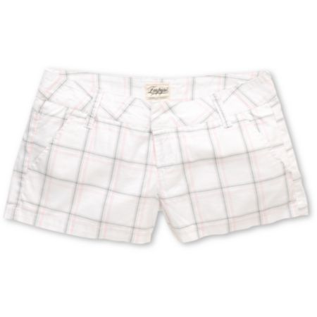Empyre Girls Arcadia 2.5 White & Grey Plaid Shorts