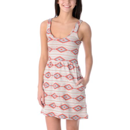 Obey Girls Tribal Tank Dress