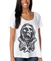 Obey Girls Masters of War Oversized Tri-Blend Tee Shirt