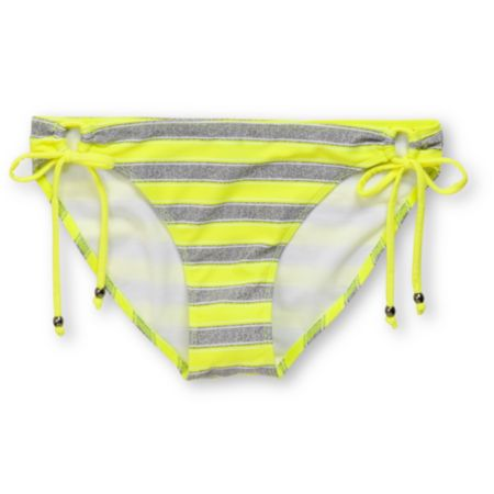 Empyre Girls Riggin Neon Yellow & Grey Stripe Tunnel Bikini Bottom