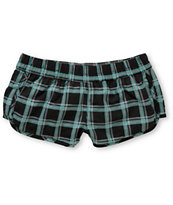 Empyre Girls Black Plaid Kewalos Board Shorts