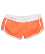 Empyre Girls Bright Coral Kewalos Board Shorts
