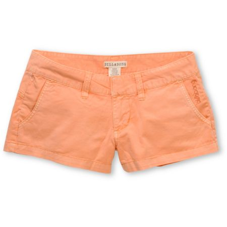 Billabong Girls Keep On Peach Canvas Twill 2 Shorts
