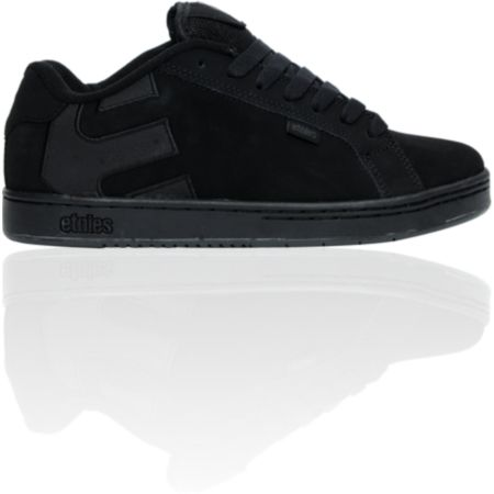 Etnies Fader Black & Black Dirty Wash Skate Shoe