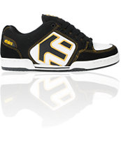 Etnies Charter Black, White & Gold Skate Shoe