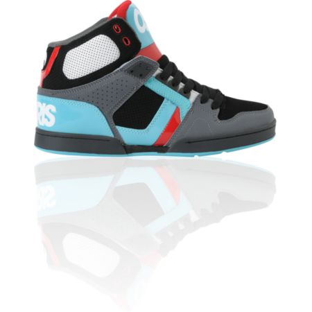 Osiris NYC 83 Black, Teal & Red Skate Shoe