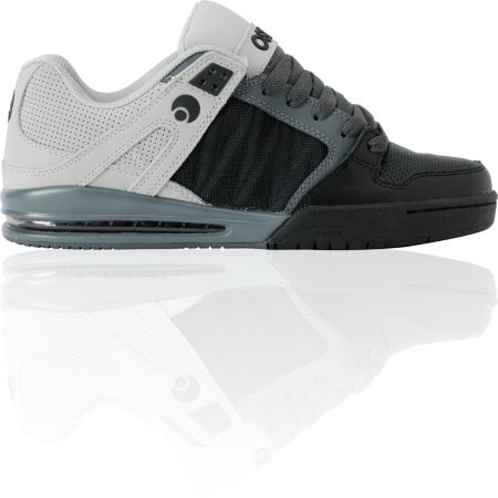 Osiris Pixel Black, Charcoal & Grey Shoe