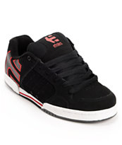 Etnies Piston Black, Red, & White Skate Shoe