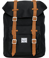 Herschel Supply Little America Mid-Volume Black Backpack