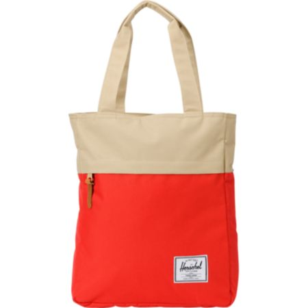 Herschel Supply Harvest Red & Tan Tote Bag