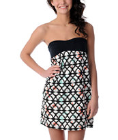 Empyre Girls Naomi Black & Geometric Tube Dress