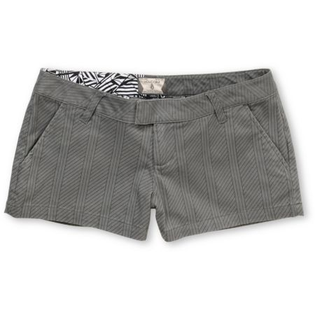 Volcom Girls Frochickie Grey Pinstripe Shorts