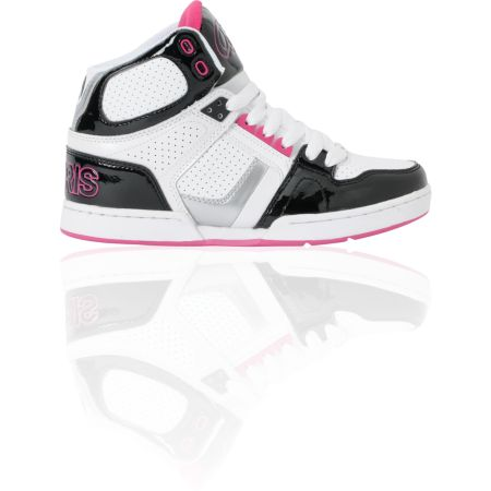 Osiris Girls NYC 83 Slim Black, Silver, & Pink Shoe