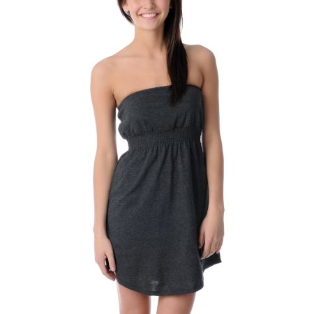 Empyre Girls Charcoal Tube Dress