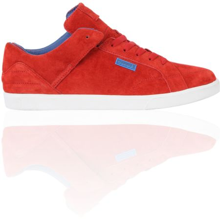 Diamond Supply VVS Red & Blue Suede Skate Shoe