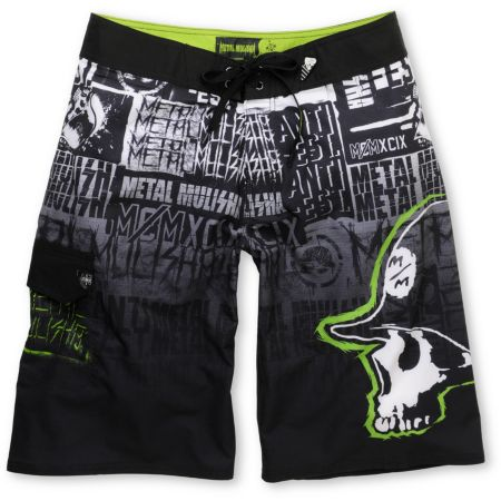 Metal Mulisha Echelon Black 23 Board Shorts