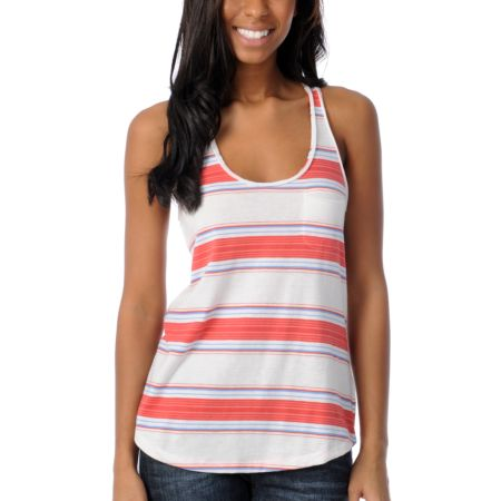 Empyre Girls Casey Blanket Stripe Racerback Tank Top