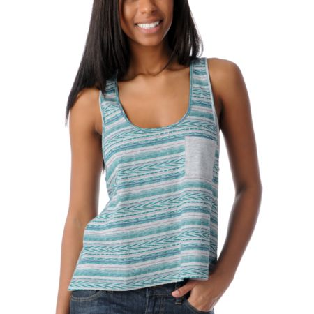 Empyre Girls Magnolia Native Stripe Racerback Tank Top