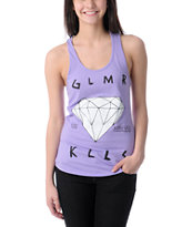 Glamour Kills Are Forever Light Purple Racerback Tank Top