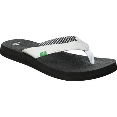 Sanuk Girls Yoga Mat White Sandals