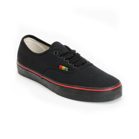 Vans Authentic Black & Rasta Hemp Shoe