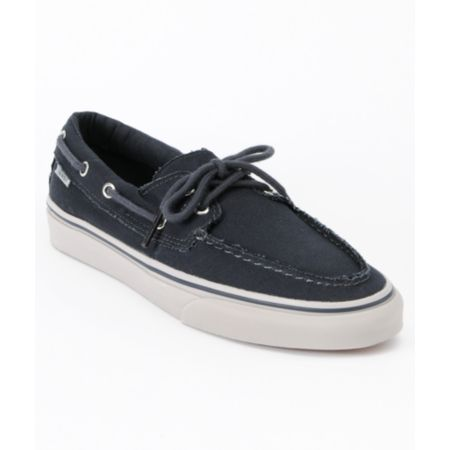 Vans Zapato Del Barco Ebony & Ice Grey Boat Shoes