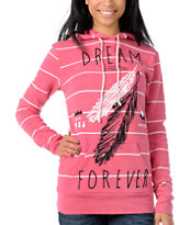 Glamour Kills Dream Forever Pink Stripe Pullover Hoodie