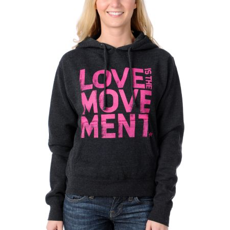 TWLOHA Love Is The Movement Grey Pullover Hoodie